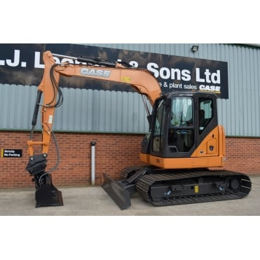 CASE CX75C SR With 800mm Pads, Midi Excavator.