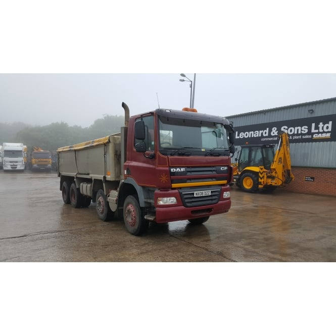 DAF CF85-360 8x4 2008 Alumninium Insulated Tipper 2008 MANUAL GEARBOX