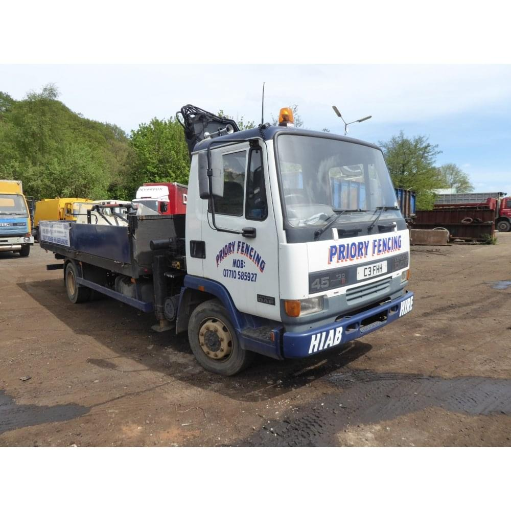 leyland daf 45 130 4 x 2 flatbed with crane manual gearbox 1997 rh cjleonard co uk leyland daf 45 workshop manual Truck Leyland DAF 45 Parts