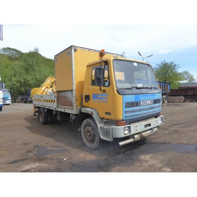LEYLAND DAF FA50.160 4 x 2 Flatbed with Crane, Manual Gearbox 1992