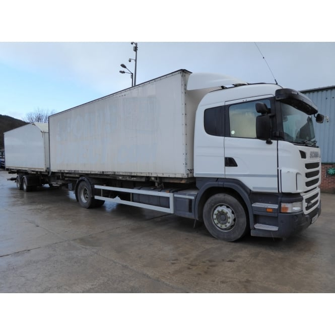 SCANIA G400 4 X 2 BOX VAN 2011 + TANDEM AXLE BOX DRAG 2006