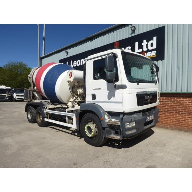 MAN TGM26.290 6 x 4 Concrete Mixer, Manual Gearbox 2012